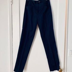 Tahari Navy Boot-cut Pants